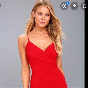 Lulu's exclusive red bodycon dress, Small, NWOT